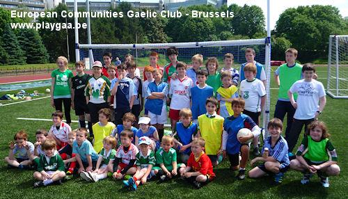 The EC Gaelic Club team Brussels
